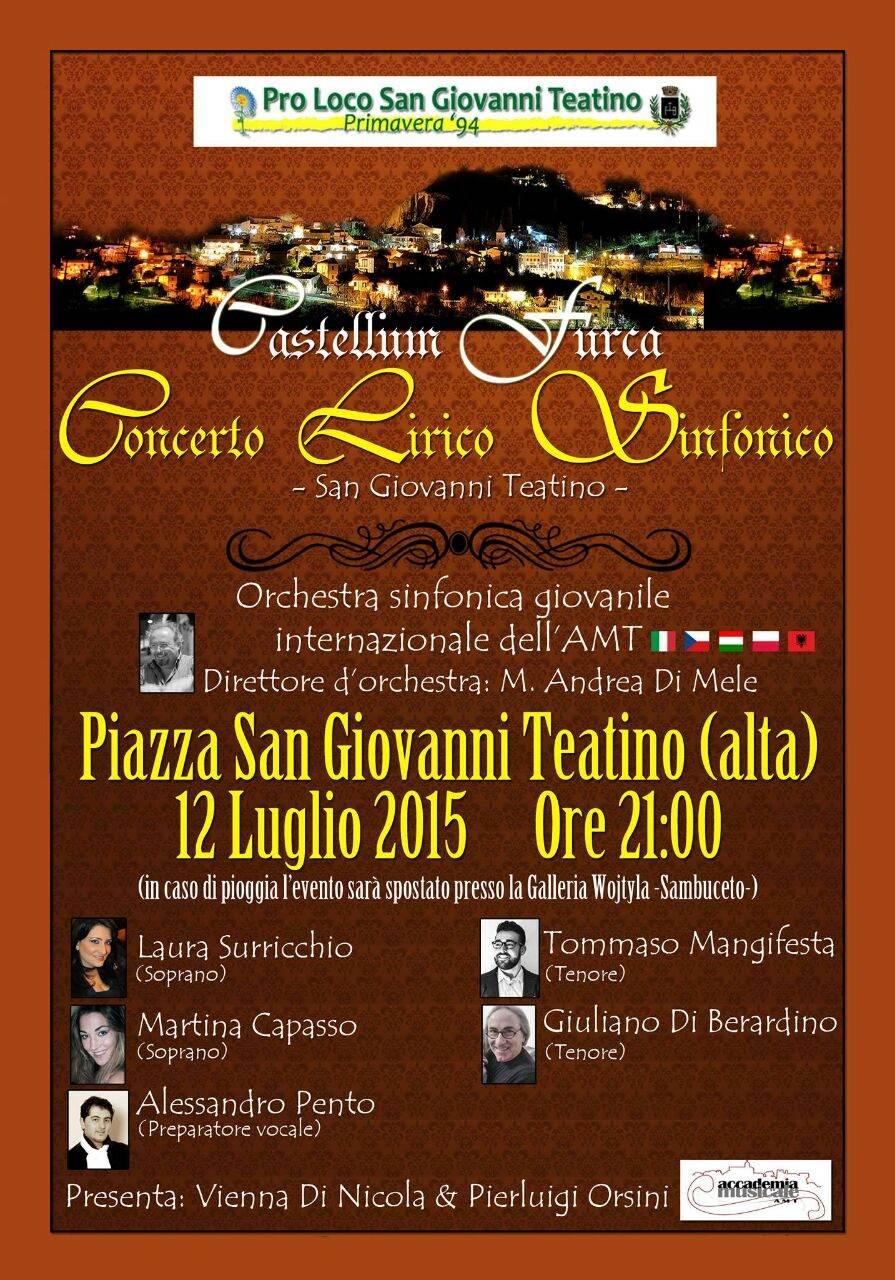 Concerto lirico sinfonico pro loco san giovanni teatino for Magri arreda san giovanni teatino